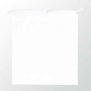 SW 二層式PE巾着ポーチ 色:ホワイト