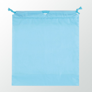 SW 二層式PE巾着ポーチ 色:ライトブルー