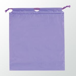 SW 二層式PE巾着ポーチ 色:パープル