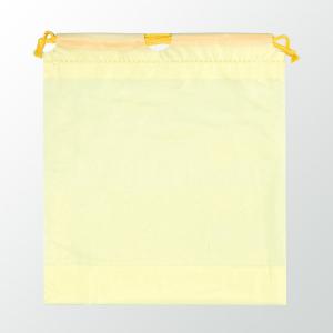 SW 二層式PE巾着ポーチ 色:イエロー